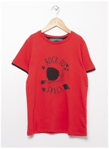 Funky Rocks Funky Rocks Bisiklet Yaka Kırmızı T-Shirt Kırmızı